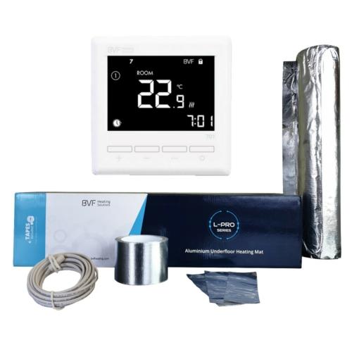 Aluminijska grijaća folija za laminat od 10 m2 - 1000W u kompletu sa termostatom
