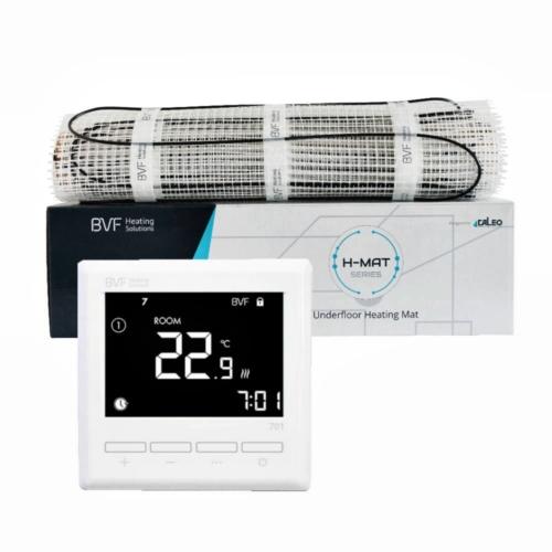 SET - Električna grijaća mreža 1m2 ukupne snage 100W + digitalni termostat BVF 701 sa podnim senzor