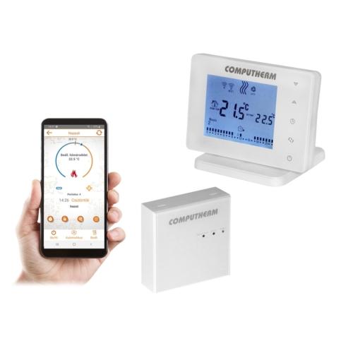 Wifi sobni termostat E400RF sa bežičnom prijemnom jedinicom